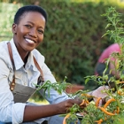 african american lady smiling outdoors